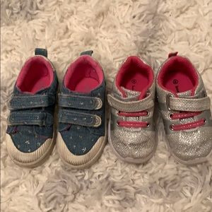 Two pairs of size 4 Koala kids toddler baby shoes